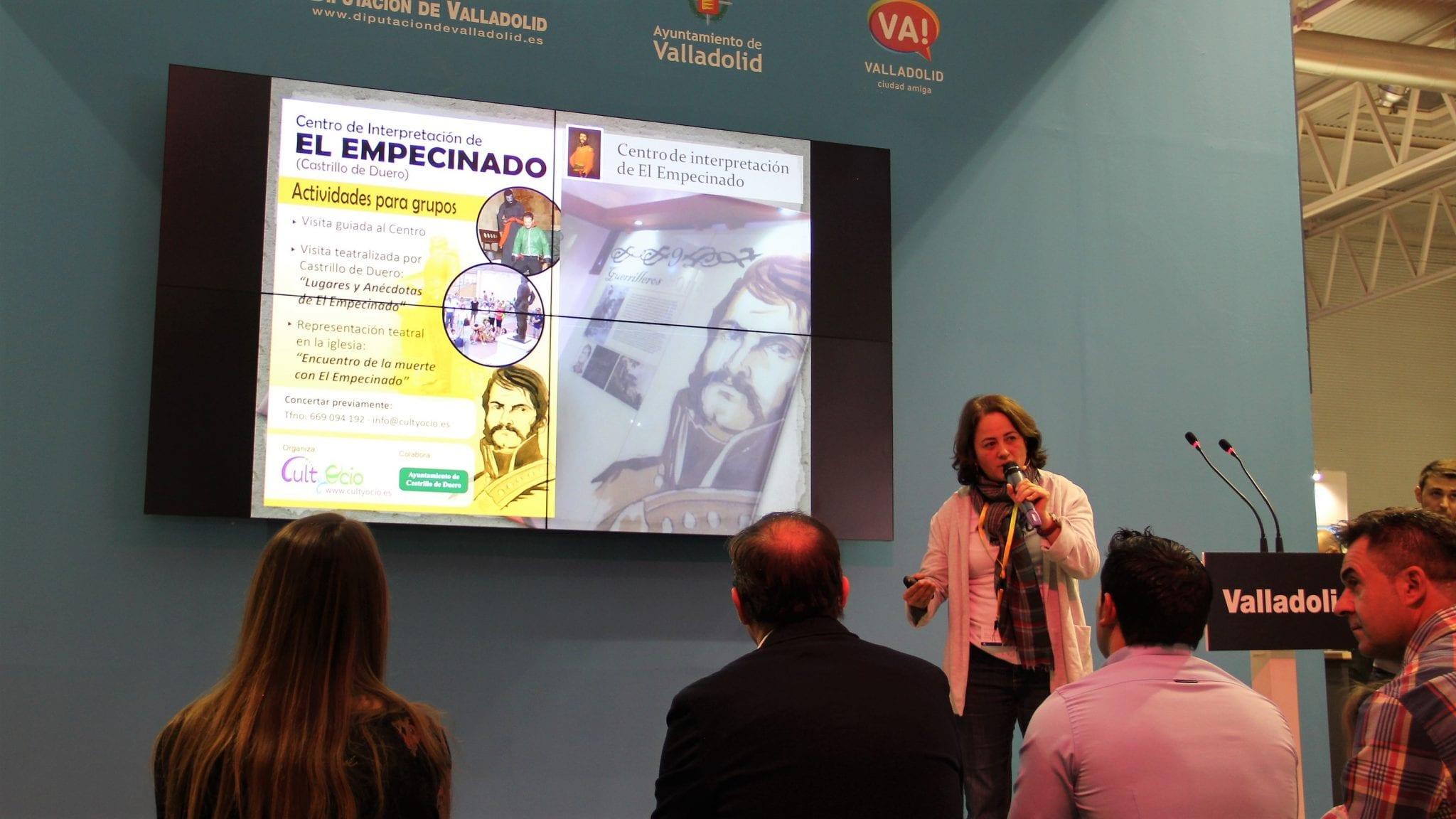 Promoción del Centro de Interpretación de El Empecinado en el stand de la Diputación de Valladolid (Intur 2017)