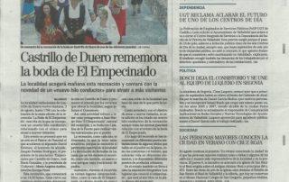 Diario de Valladolid (2-08-19). Boda de El Empecinado