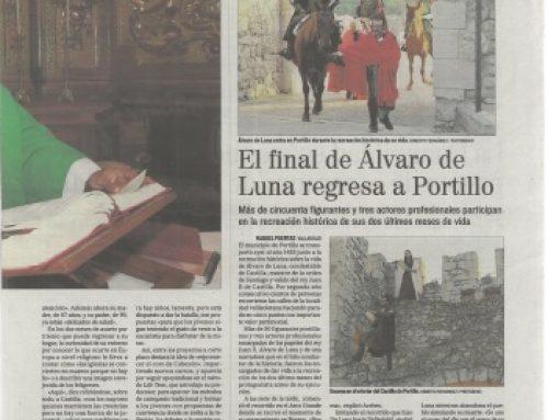 «Álvaro de Luna, prisión y condena» en el Diario de Valladolid por 2º año