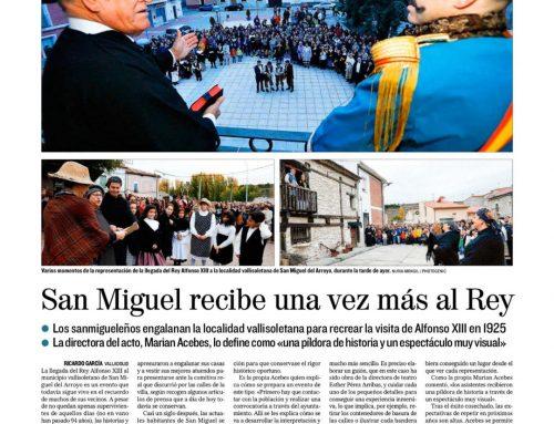 Página completa en el «Diario de Valladolid» para la recreación de Alfonso XIII