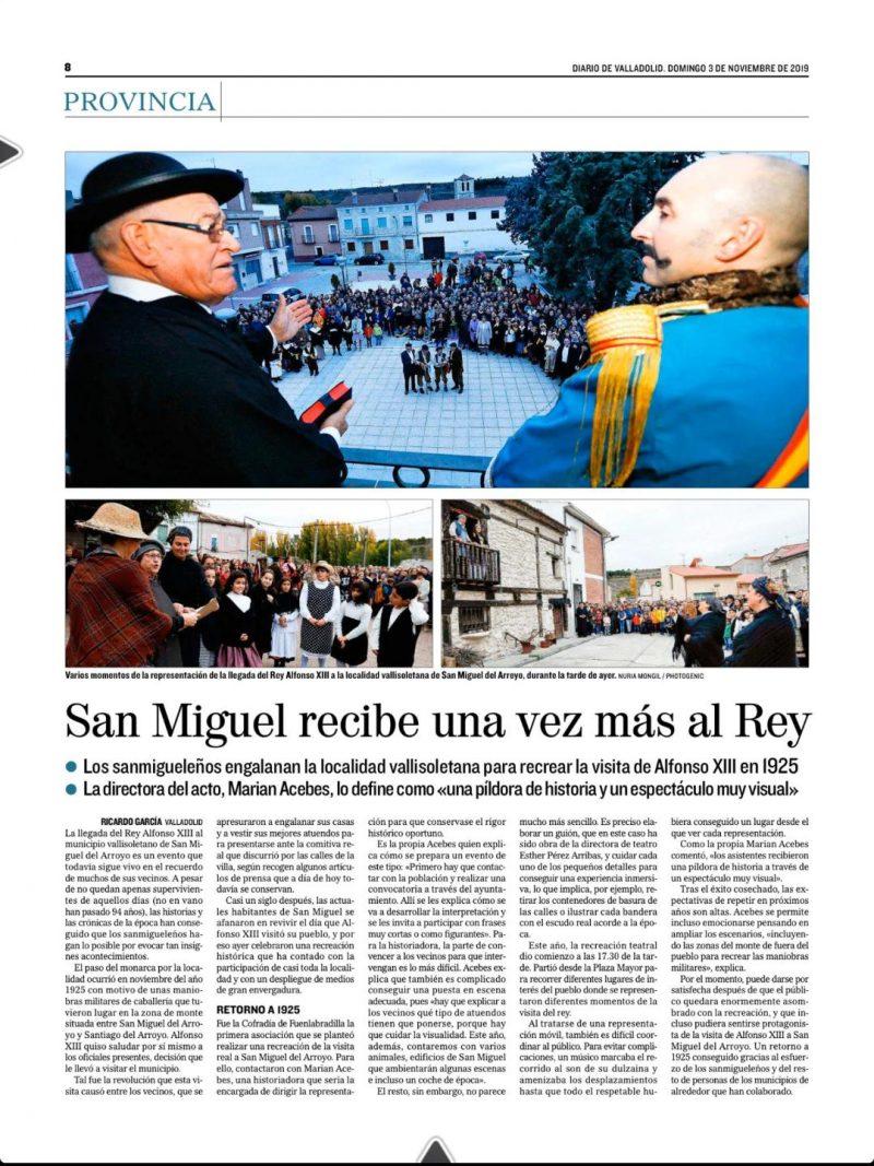 Diario de Valladolid (3-11-19)