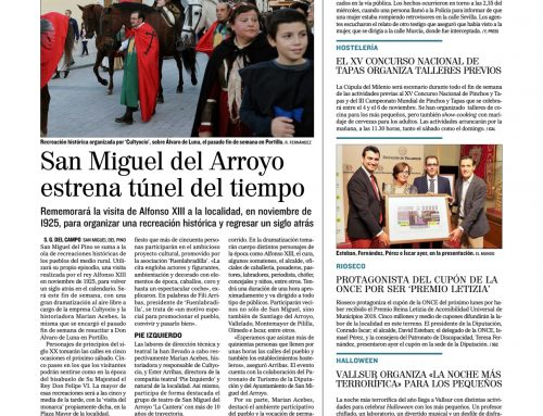 El «Diario de Valladolid» anima a acercarse a ver la recreación de Alfonso XIII