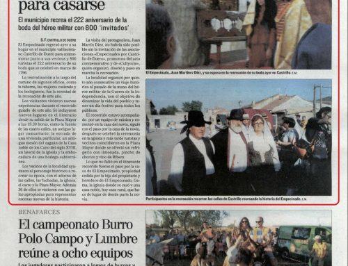 """Amplia noticia de la 5ª edición de la """"Boda de El Empecinado"""""""