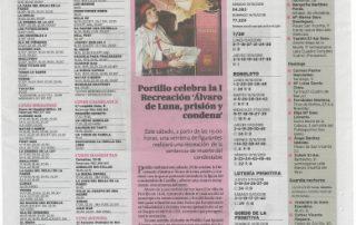 El Día de Valladolid promociona la recreación de Álvaro de Luna