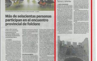 El Norte de Castilla dedica una amplia noticia a la recreación de Álvaro de Luna