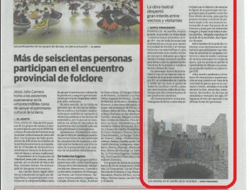 El éxito de la recreación de Álvaro de Luna en la prensa regional