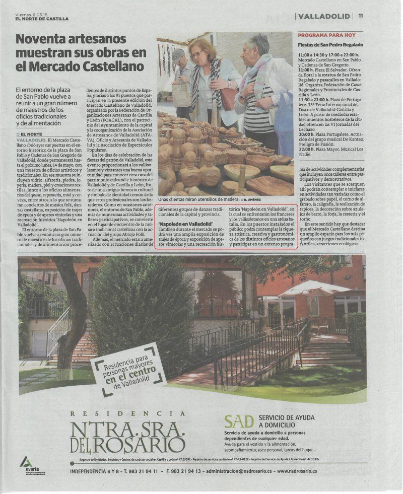 """La recreación de """"Napoleón en Valladolid"""" en El Norte de Castilla"""