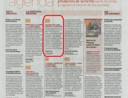 """Recreación """"Álvaro de Luna: prisión y condena"""" en Portillo en la prensa"""
