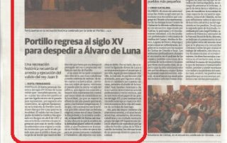 2ª recreación de Álvaro de Luna en El Norte de Castilla