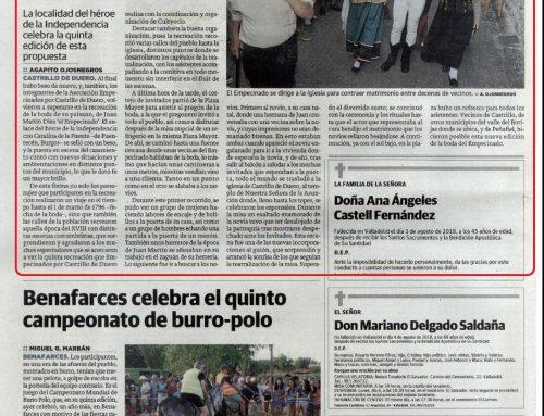 """La 5ª """"Boda de El Empecinado"""" muy valorada en la prensa regional"""