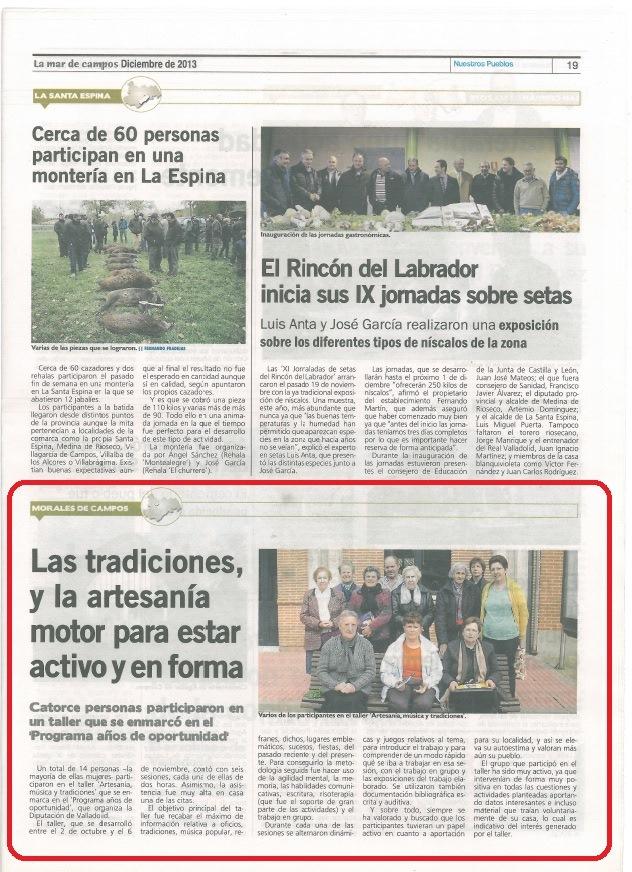 Artesanía, música y tradiciones-prensa 1 | cultyocio.es