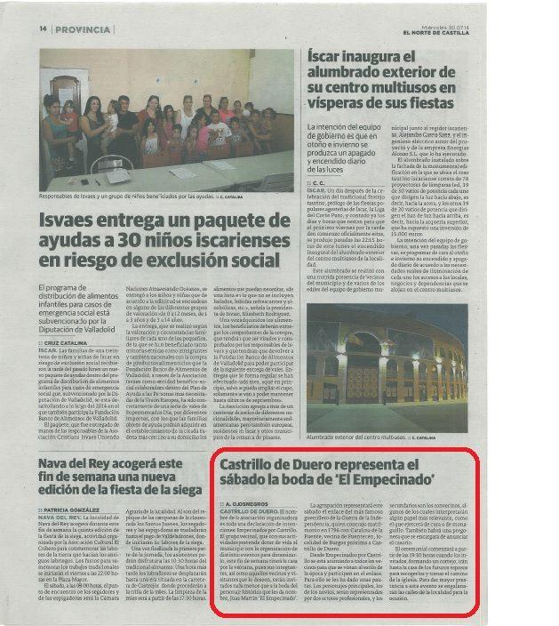 1ª boda empecinado 2014-prensa 1 | cultyocio.es