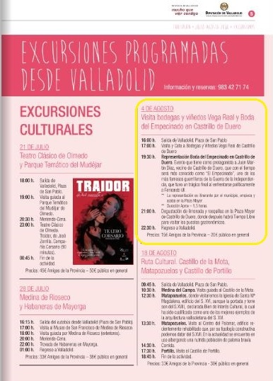Turiplanes, de la Diputación de Valladolid, incluye la Boda de El Empecinado